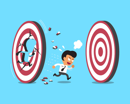 targets: Cartoon businessman and targets