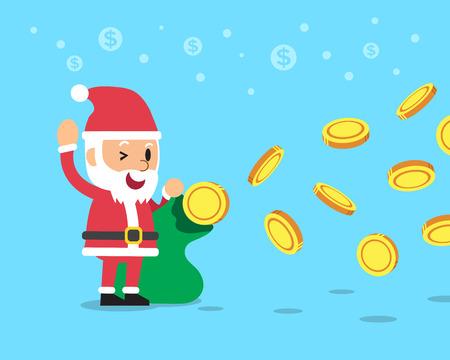 Santa claus earning money