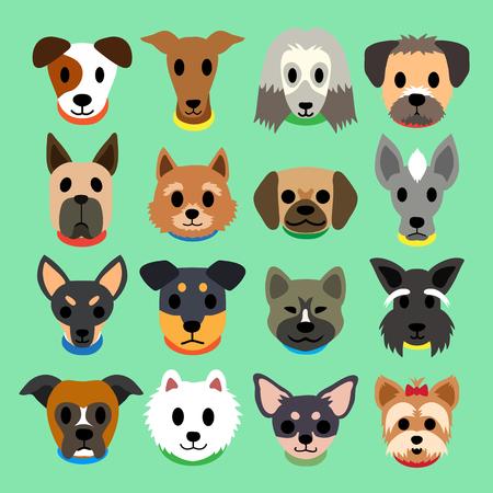 labrador: Set of vector cartoon dogs Illustration