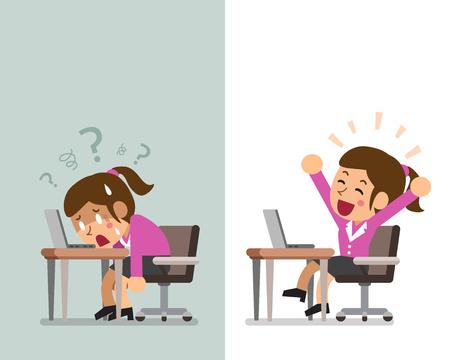 Cartoon affaires exprimant différentes émotions Banque d'images - 85818084