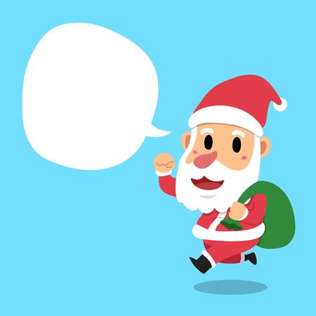 Santa Claus with speech bubble icon.