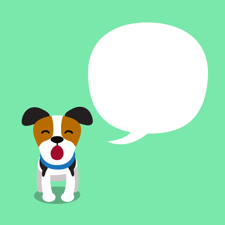 Cartoon character jack russell terrier dog and speech bubble Illustration