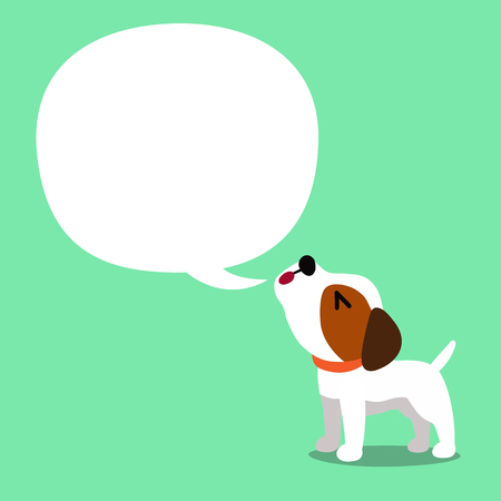 cartoon character a jack russell terrier dog and speech bubble Illustration