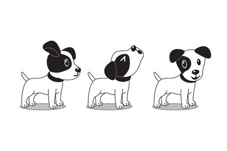 Vektor-Zeichentrickfigur niedlichen Jack Russell Terrier Hund posiert