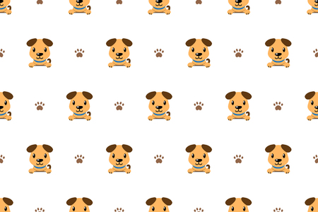 Cartoon character cute dog seamless pattern background for design. Standard-Bild - 117063646