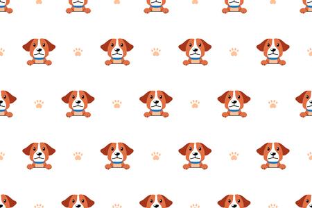 Vector cartoon character cute dog seamless pattern background for design. Standard-Bild - 117063650