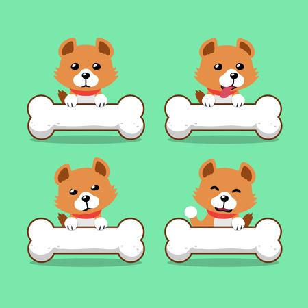 Cartoon character cute dog with big bones for design. Standard-Bild - 117376745