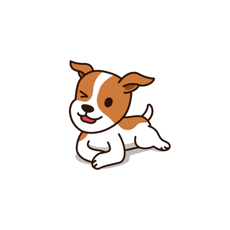 Vector cartoon character cute jack russell terrier dog for design. Standard-Bild - 118565342