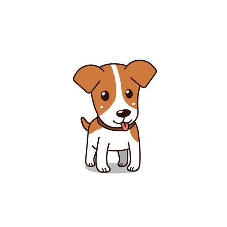 Cartoon vector character cute jack russell terrier dog for design. Standard-Bild - 118565359