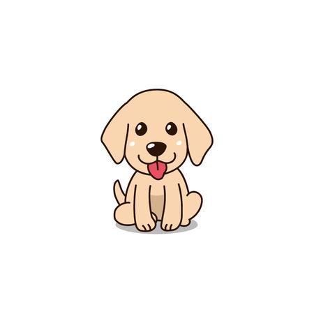 Vector cartoon character cute golden retriever puppy dog for design. Standard-Bild - 119144917