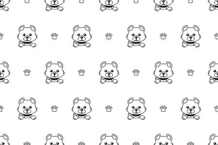 Vector cartoon character cute dog seamless pattern for design. Standard-Bild - 119144925