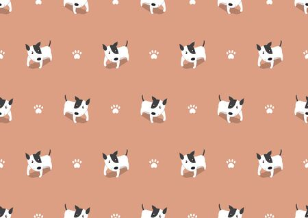 Vector cartoon cute dog seamless pattern background for design.