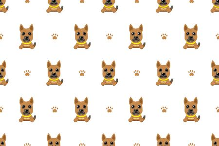 Cartoon character brown dog seamless pattern background for design. Ilustracja