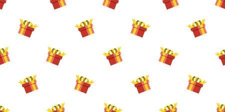 Vector gift box seamless pattern background for design.