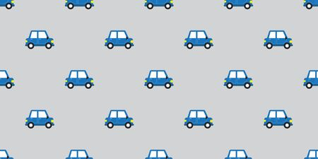 Vector car seamless pattern background cartoon style for design.