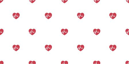 Vector healthy heart seamless pattern background for design. Ilustracja