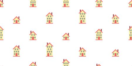 Vector houses building seamless pattern background for design. Ilustracja