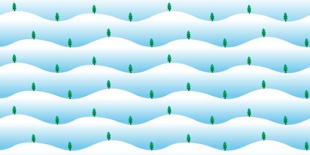 Vector snow mountain with trees seamless pattern background for design.