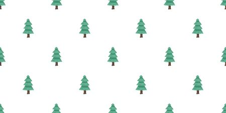 Vector tree seamless pattern background for christmas for design.
