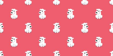 Vector cartoon character cute dog seamless pattern background for design. Ilustracja