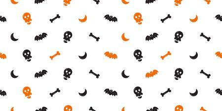 Vector halloween seamless pattern background cartoon style for design.