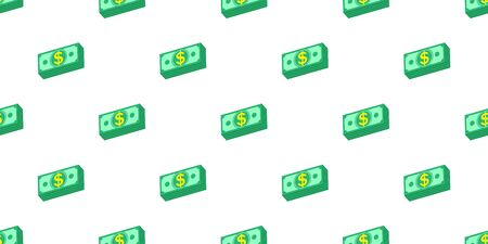 Vector money seamless pattern background cartoon style for design.