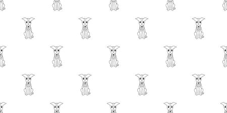Vector cartoon character greyhound dog seamless pattern background for design. 向量圖像