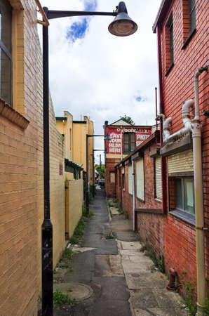 blue mountains: An alleyway in Katoomba, Blue Mountains, Australia Stock Photo