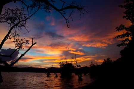 Sunset @ khoa-khad beach Phuket Thailand photo