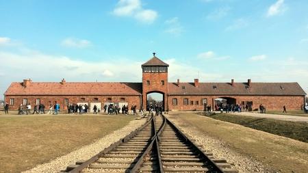 アウシュビッツ鉄道入口 写真素材 - 95652937
