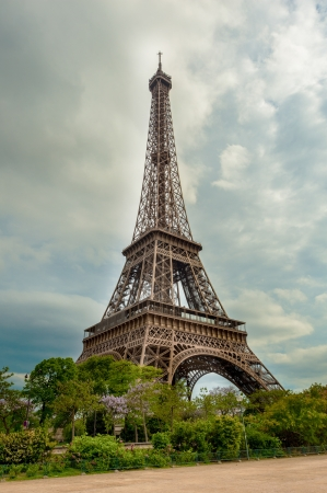 The Eiffel tower Paris Stock Photo