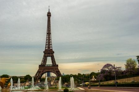 La tour Eiffel � Paris Banque d'images