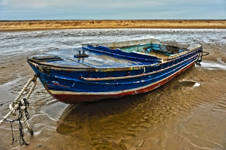 Barmouth Boat storm HDR Stock Photo - 14151757