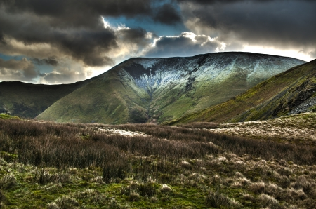 Wales Mountain storm HDR