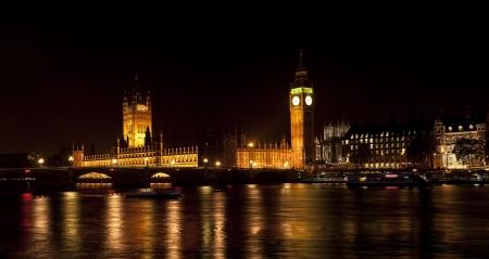 Westminster, Londres, la nuit