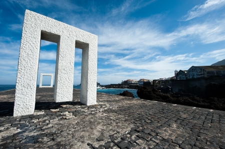 View art frame located in the sea side in the Canary Islands  Editorial