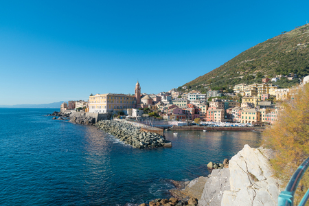 Small port and hamlet of Nervi from the promenade - Italy