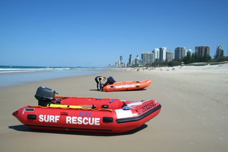 inshore: Inshore surf rescue boats used by surf rescue.