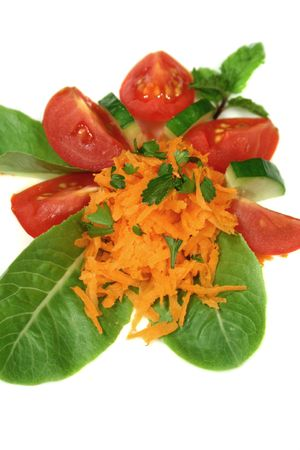 delightful: Delightful carrot and cucumber salad ready to serve.