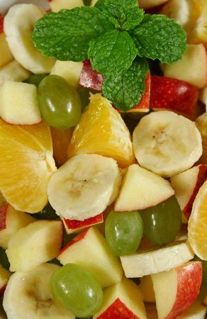 fruit salad: Healthy homemade fruit salad ready to serve. Stock Photo