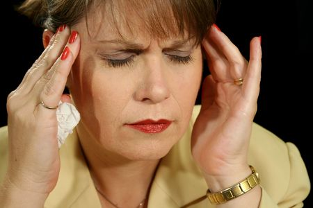 unsettled: The throbbing pain of a migraine headache.