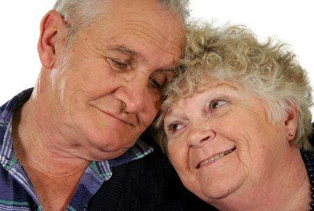 Happy senior couple enjoying time together. photo
