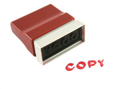 Used copy rubber stamp for the office. Stock Photo - 2623674