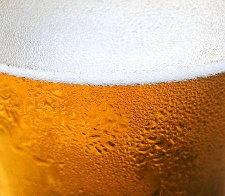 espumante: Ci�rrese encima de fondo de un cristal que hace espuma de cerveza.