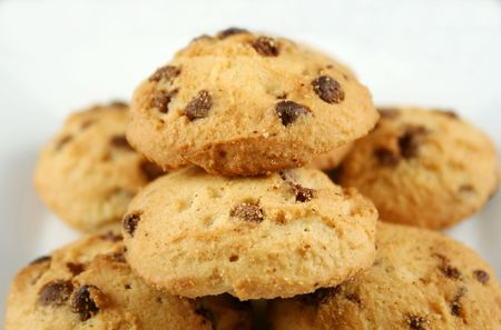 Fresh and crunchy chocolate chip cookies ready to go. Stock Photo - 2868574