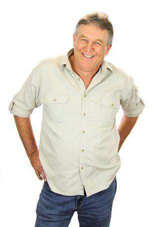 Casual middle aged man standing and smiling. Stock Photo - 5322394
