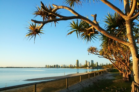 View of Southport And Main Beach Australia seen from Labrador. Stock Photo - 7224585