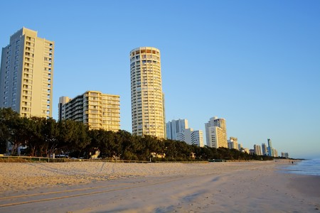surfers paradise: Surfers Paradise Australia skyline looking north in the early morning light.