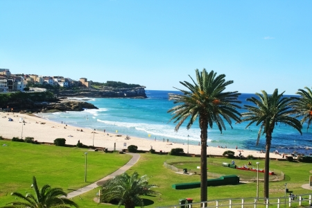 Bronte Beach in Sydney Australia looking South towards Bondi  Stock Photo