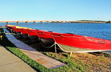 Hire boats at Bribie Island in Queensland Australia. Stock Photo - 22966815